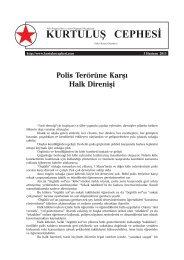 Polis Terörüne Karşı Halk Direnişi - Kurtuluş Cephesi