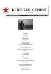 133. SAYI (Temmuz-Ağustos 2013) - Kurtuluş Cephesi Dergisi