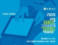 Advance Program - Association for Behavior Analysis International