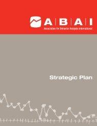 ABAI Strategic Plan - Association for Behavior Analysis International