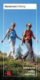 Wandelbrochure - Urlaub in der Alpenregion Bludenz