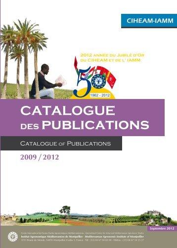 Catalogue Publications 2009-2012 - Institut Agronomique ...