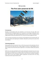 Mini case study – Solar ski lifts