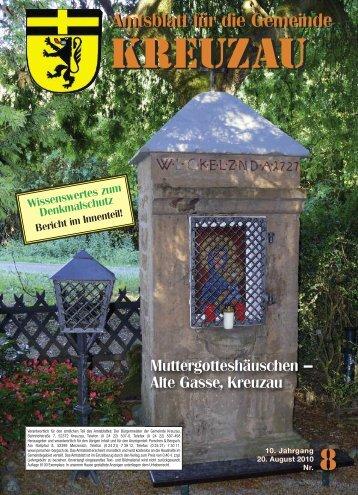 Amtsblatt Nr. 08/2010 vom 20.08.2010 - Gemeinde Kreuzau