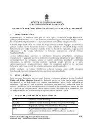 (EDYS) Teknik Şartnamesi - Kültür ve Turizm Bakanlığı