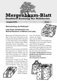 Mergenbaum-Blatt Winter 2009 - von Wolfgang Giegerich