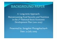 background paper - Food Security and Nutrition