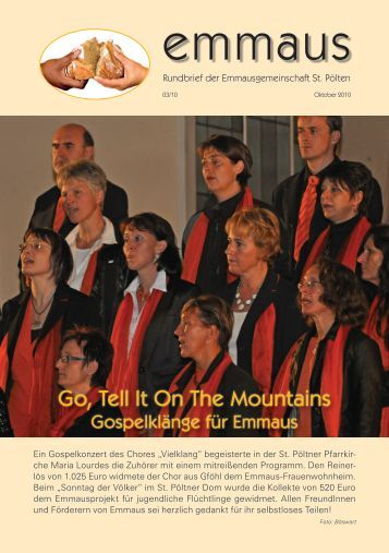 Rundbrief Ausgabe 3/2010 - Emmausgemeinschaft St. Pölten