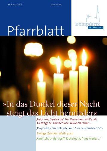 In das Dunkel dieser Nacht steigt das Licht - Dompfarre St. Stephan