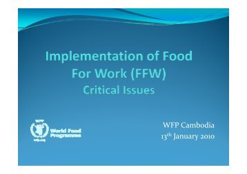 p - Food Security and Nutrition