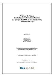 Analyse Stratégie d'internationalisation d'ACCOR dans les