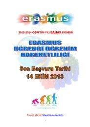 2010-2011 güz dönemi erasmus öğrenci öğrenim hareketliliği ...