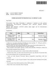 Yükseltici Platform Alımı - İzmir Ekonomi Üniversitesi