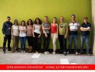 İzmir Ekonomi Üniversitesi Görsel İletişim Tasarımı Bölümü