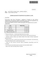 Çerçeve Sabit Fiyat Alımı - İzmir Ekonomi Üniversitesi