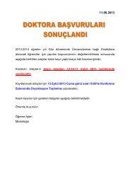 2013-2014 öğretim yılı Güz döneminde Üniversitemize bağlı ...