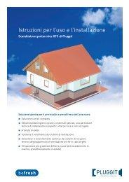 Istruzioni per l'uso e l'installazione Scambiatore geotermico ... - Pluggit