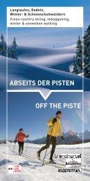 OFF THE PisTE AbsEiTs dEr PisTEn - Urlaub in der Alpenregion ...
