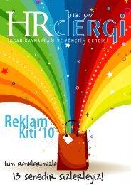 13 senedir sizlerleyiz! - HR İnsan Kaynakları ve Yönetim Dergisi