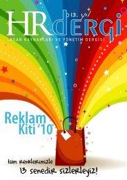 13. yıl - HR İnsan Kaynakları ve Yönetim Dergisi