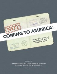 Not Coming to America - Partnership for New York City