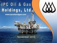 November 2012 - IPC Oil & Gas Holdings, Ltd.