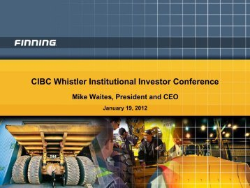 View this Presentation (PDF 775 KB) - Finning International Inc.