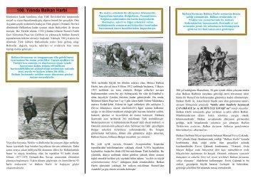 balkan harbi'nin 100. yılı anısına - E-Universite