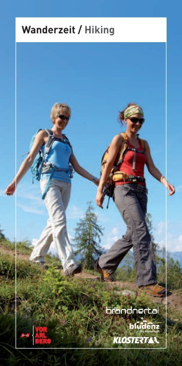 Wanderzeit / Hiking - Urlaub in der Alpenregion Bludenz