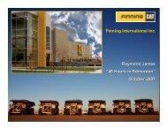 View this Presentation (PDF 872 KB) - Finning International Inc.