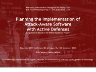 Planning the Implementation of Attack-aware ... - Build Security In