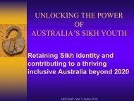 UNLOCKING QCAR - Sikh Youth Australia