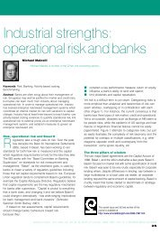 Industrial strengths: operational risk and banks - Z/Yen