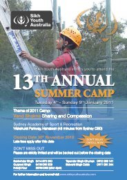 brochure - Sikh Youth Australia