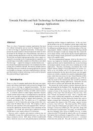Towards Flexible and Safe Technology for Runtime Evolution of ...
