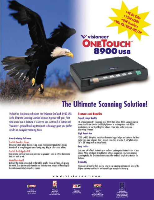 VISIONEER ONETOUCH 8900 DRIVERS WINDOWS XP