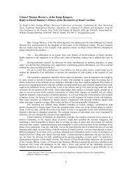 Colonel Thomas Brown's, of the Kings Rangers, Reply - Gunjones.com