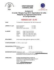 Invitasjon og påmelding Norges Cup 2 - Elite - Norges Danseforbund