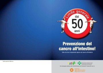 Prevenzione del cancro all'intestino! - self-care.ch