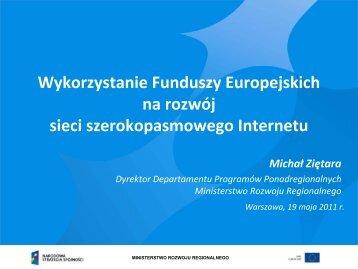 Prezentacja - Ministerstwo Rozwoju Regionalnego