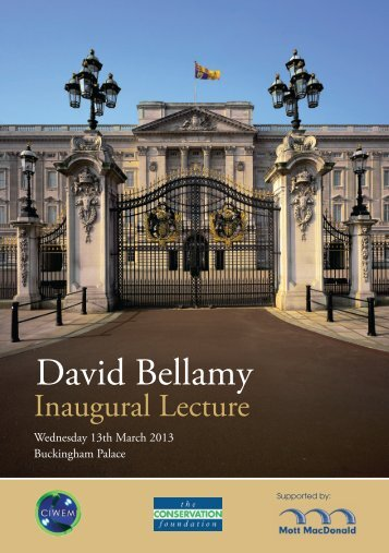 Download the David Bellamy Lecture brochure here.