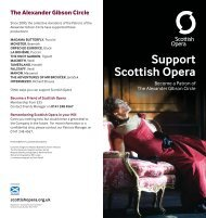 The Alexander Gibson Circle - Scottish Opera