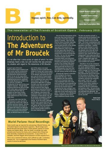 Introduction to The Adventures of Mr Broucek - Scottish Opera