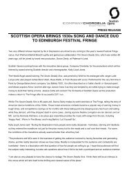 Full press release - Scottish Opera