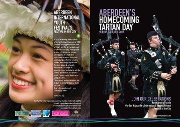 Tartan Day A5 flyer - AIYF