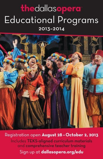 Educational Programs - The Dallas Opera
