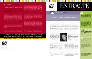 "COLOR THEM ""PASSIONATE!"" - The Dallas Opera"