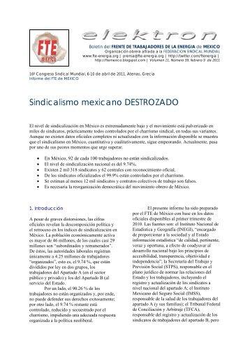 39. Sindicalismo mexicano DESTROZADO (pdf) - fte-energia.org
