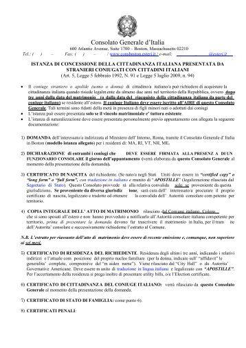 richiesta di cittadinanza richiesta cittadinanza