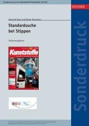 Standardsuche bei Stippen - Optical Control Systems GmbH